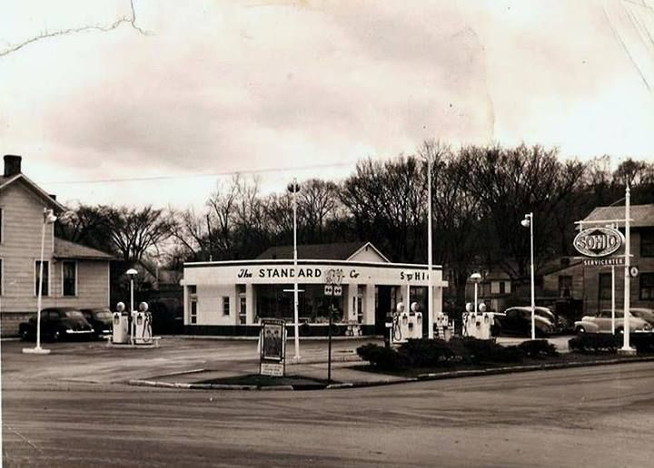 this old gas station was at the corner of putnam and. Black Bedroom Furniture Sets. Home Design Ideas