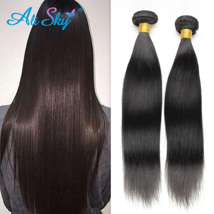 Ali Sky Malaysian Virgin Hair 2 Bundles Deal Cheap Malaysian Straight Human Hair 7A Unprocessed Straight Virgin Hair Weave
