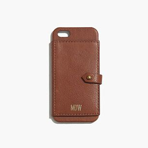 Madewell, Leather Wallet Case for iPhone� 5/5s #GIFTWELL i need this. and an iPhone 5 haha