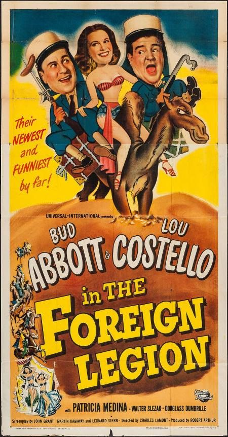 Abbott & Costello movie poster - in The Foreign Legion.