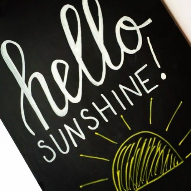 Hello Sunshine! Lettering Video using the Bistro Chalk Markers