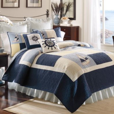 Nautical Bedding - Pretty Home - check various designs and colors on Pretty Home http://www.prettyhome.org/nautical-bedding/