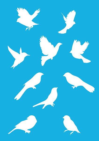 Трафарет - 91.  «Птицы»
