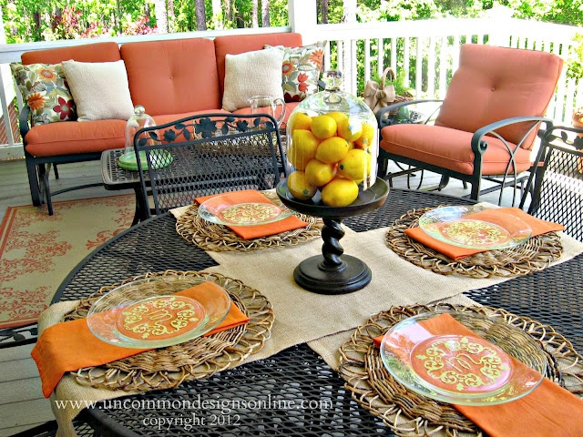 porch decor: Mothers Day, Summer Drinks, Decor Porches For Summer, Summer Tablescapes, Uncommon Design, Back Porches, Martha Stewart, Stewart Mothers, Monograms Plates