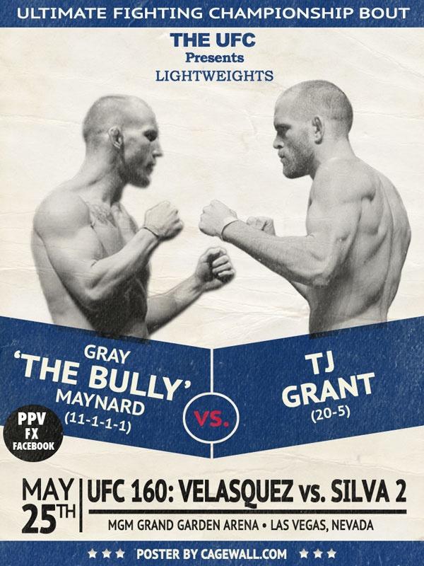 Gray Maynard vs TJ Grant added to UFC 160 in Las Vegas, May 25. Winner is Next in line for Champion Benson Henderson