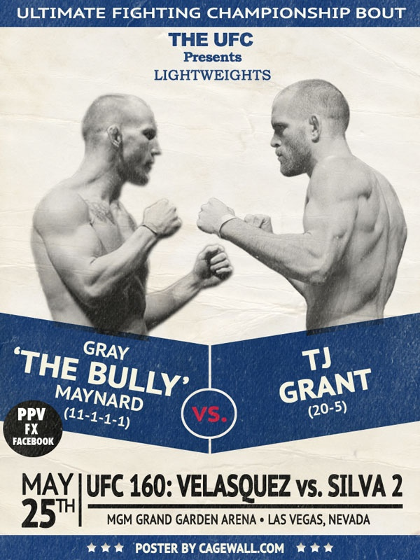 Gray Maynard vs TJ Grant added to UFC 160 in Las Vegas, May 25. Winner is Next in line for Champion Benson Henderson
