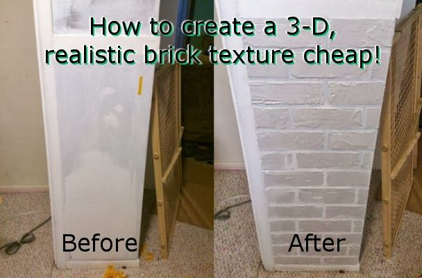 Using joint compound and tape, this technique saves hundreds in adding a faux brick texture to walls.