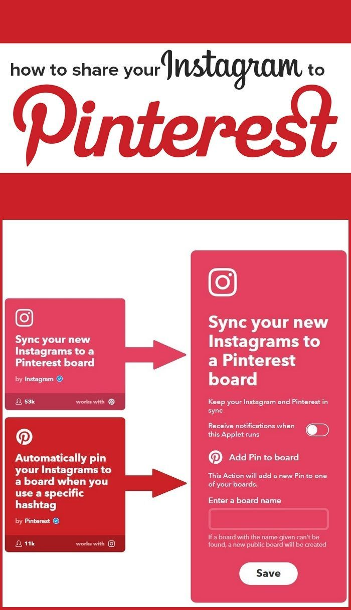 How to share from Instagram to Pinterest - Cross promote from your other social channels #smm #socialmedia  #repin #infobunny #pinteresttips