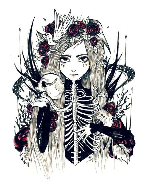 ✿★✝☮ GOTH GIRL ILLUSTRATION ✝☯★☮