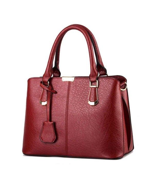 83560d802af Women's Bags, Satchels, Simple Leather Shoulder Handbag Zipper ...