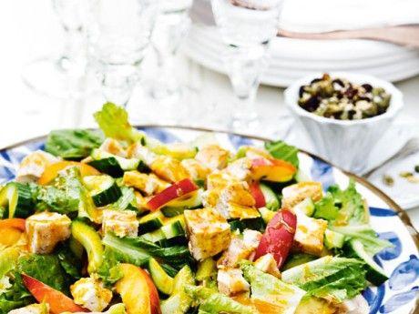 Kycklingsallad med currydressing Receptbild - Allt om Mat