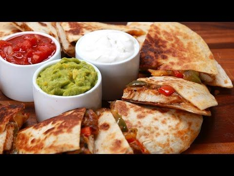 Make These Easy Chicken Fajita Quesadillas At Home