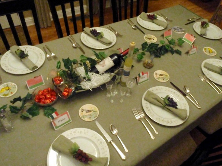 Italian Dinner Party Table Decore