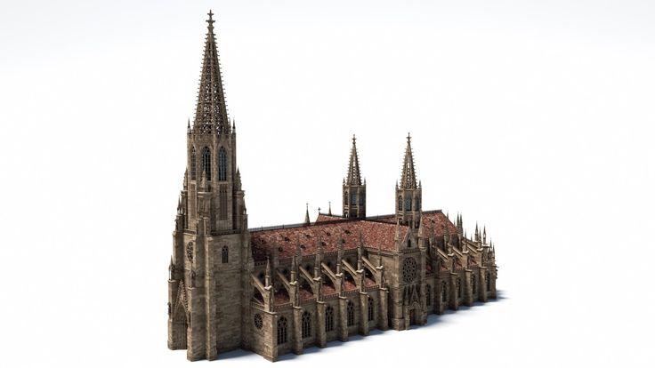 Gothic Minster, sven dännart on ArtStation at https://www.artstation.com/artwork/z436L