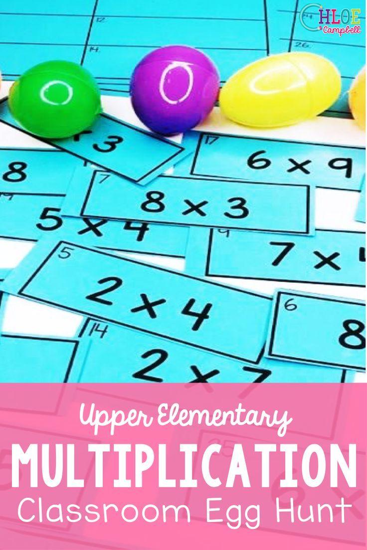 Easter Egg Hunt: Multiplication Problems   Math center activities [ 1104 x 736 Pixel ]