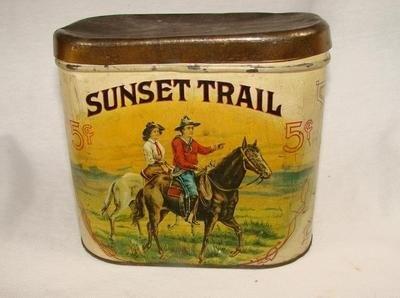 Sunset Trail 5 Cent Cigar Tin