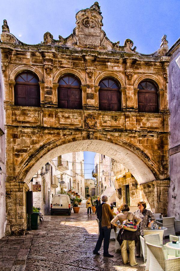Lovely Italian #coffee #bar | Puglia, Scoppa Arch Ostuni, province of Brindisi  Puglia region Italy