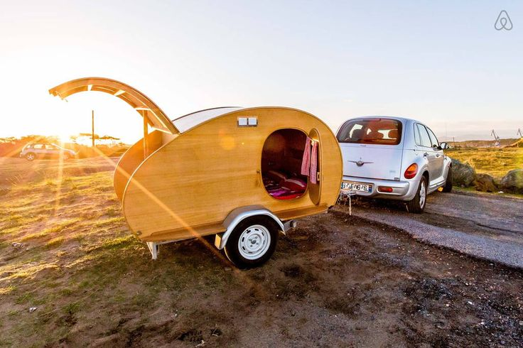 Check out this awesome listing on Airbnb: Teardrop mini caravane en bois - Campers/RVs for Rent in Anglet