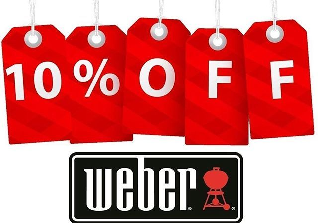 10% Off all Weber BBQ's - Hurry ends this Sunday 12th November!! The Outdoor Chef is celebrating what feels like the start of Summer with a 4 day sale, come down to see our Weber's in action at our Osborne Park store this Saturday, taste some of our delicious Pizza's and get the benefit of receiving 10% off a Weber BBQ purchase, WIN WIN :) www.theoutdoorchef.com.au #weber #weberbbqausnz #weberbbq #webergrill #weberq #weberlife #weberlove #webber #barbecue #barbeque #bbq…