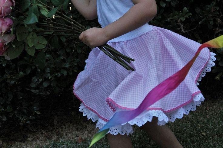Full Circle Petticoat, cotton eyelet lace trim, pull on elastic waist, rockabilly petticoat by ByCatDesign on Etsy