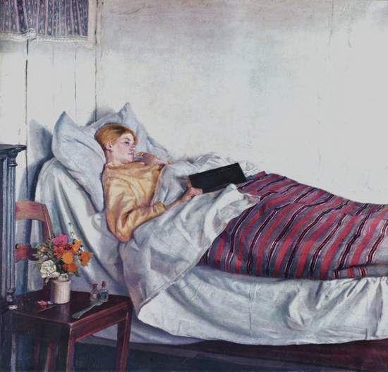 Dette billeder repræsentere den syge kvinder, der optræder i novellen To verdener af J.P. Jacobsen