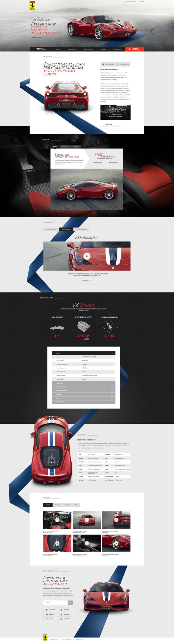 Ferrari - 458 Speciale Launch Website on Behance