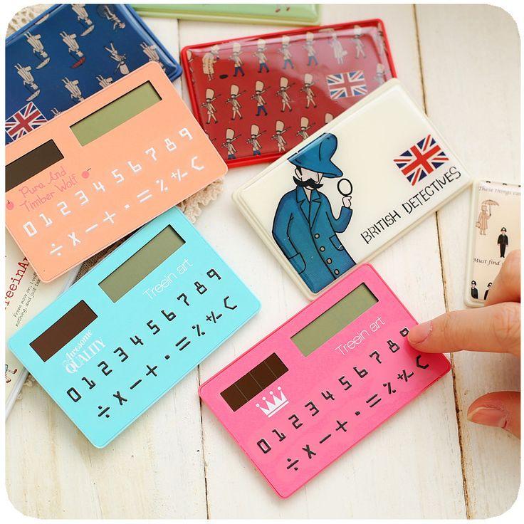 1pcs/lot Korea stationery card portable calculator mini handheld ultra-thin calculator shipping