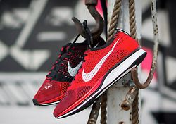 sweetsoles:  Nike Flyknit Racer - Red/Black (by Niwreig)