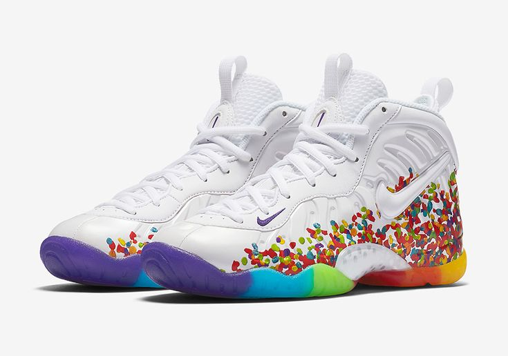 """The Nike Little Posite Pro """"Fruity Pebbles"""" is releasing in-store and online tomorrow at Foot Locker. The shoes are a direct play off of the legendary Nike LeBron 4 that was created years ago, inspired by LeBron James' favorite breakfast … Continue reading →"""