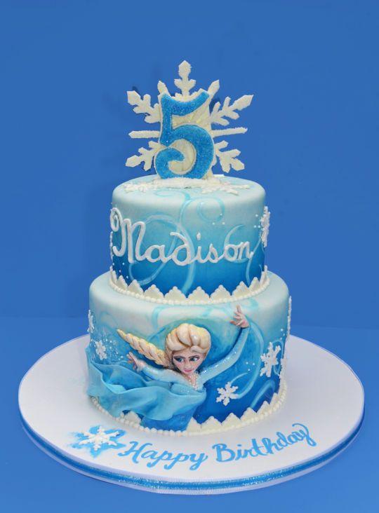Snowflake Birthday Cake Designs