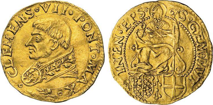 NumisBids: Numismatica Varesi s.a.s. Auction 65, Lot 751 : CLEMENTE VII (1523-1534) Ducato d'oro s.d., Modena. D/ Busto del...