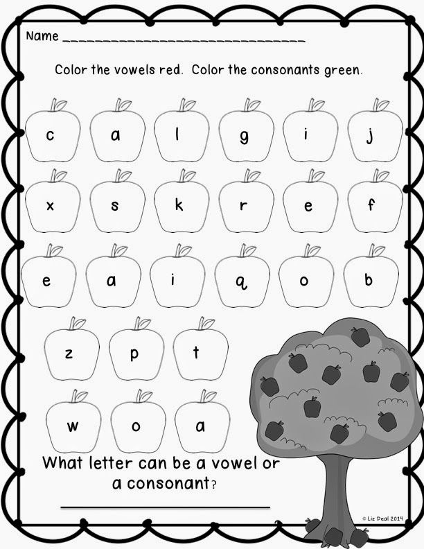 Vowels and consonants-also goes with a book