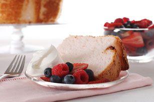 Pink Lemonade Angel Food Cake recipe with cake mix  lemonade mix