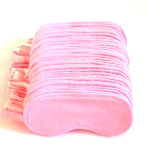 Pink Cotton sleep eye mask SPA mask PJ Party by GoiaBoutique, $5.00
