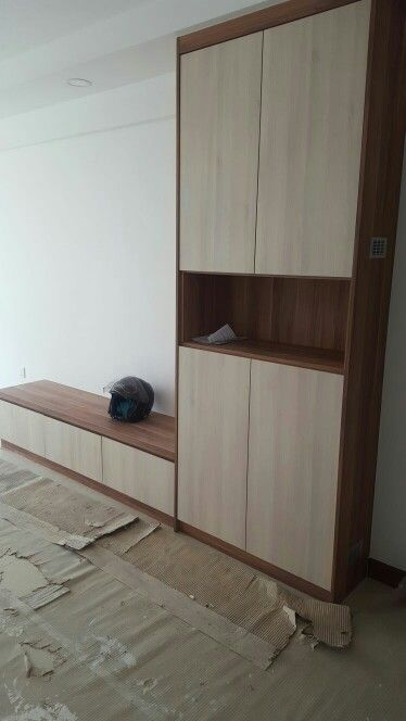 Living room settee and shoe cabinet
