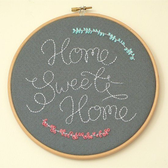 An easy way to covert drawings or print-outs in to beautiful embroidered art | DIY for your home.