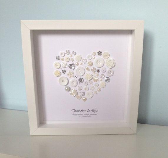 Beautiful diamond anniversary button art  by ButtonArtbySophie