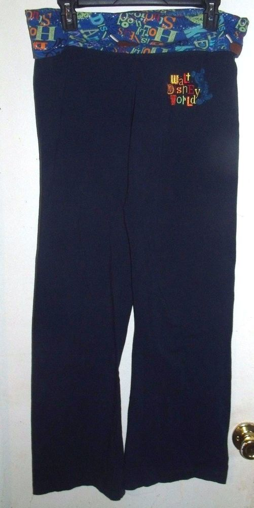 Walt Disney World Parks Yoga Athletic Boot Wide Leg Mickey Stretch Pants M…
