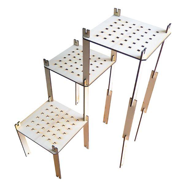 Uhn, scaffale in legno modulabile di LohnDesignDigitalFabrication su DaWanda.com