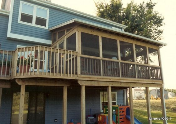 Best 20 two story deck ideas on pinterest two story for Second floor sunroom