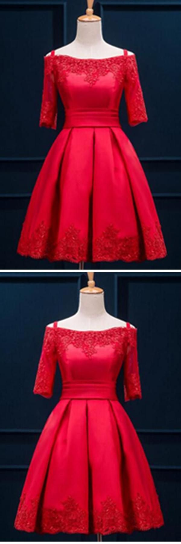 Prom dress red lace homecoming dress short homecoming dress lace