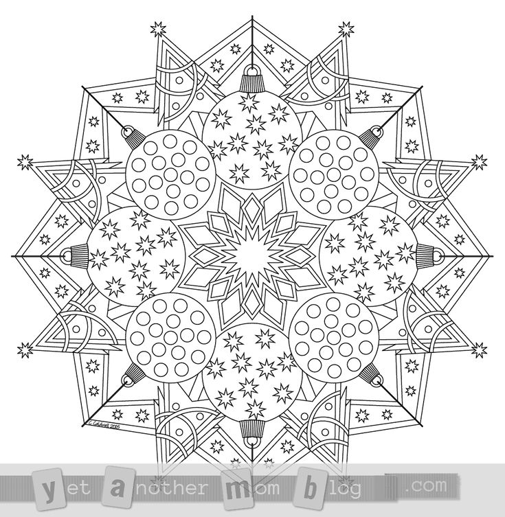 printable christmas mandala coloring pages - photo#18