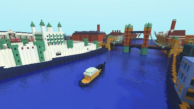 """Begehbare Bilder: Die Londoner Tate Gallery verwandelt Gemälde in """"Minecraft""""-Level   WIRED Germany"""