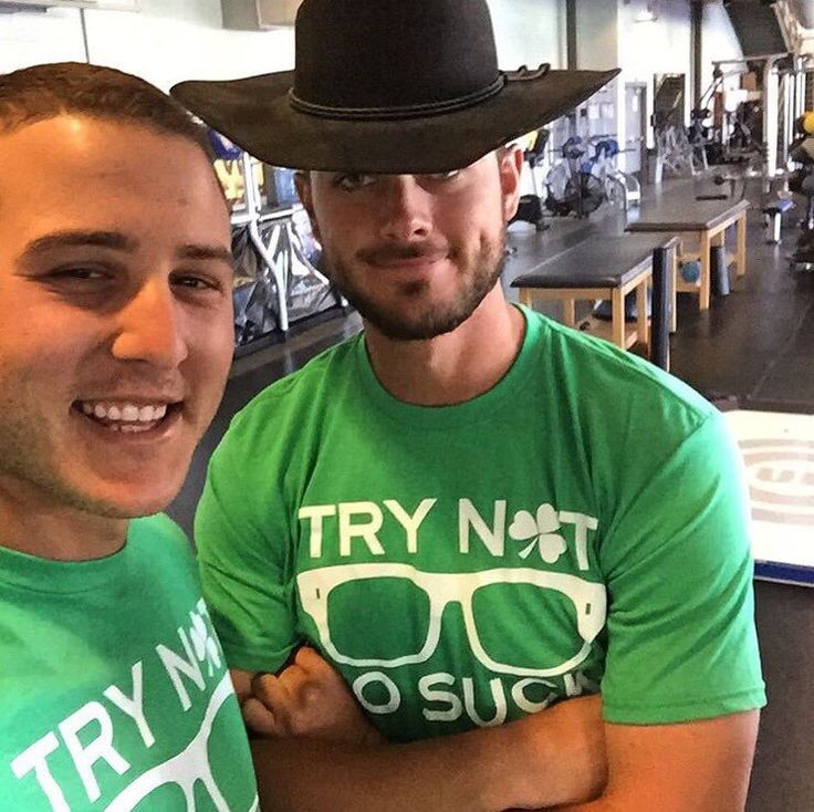 Anthony Rizzo, Kris Bryant - Chicago Cubs spring training 2016 - St Patrick's Day #trynottosuck