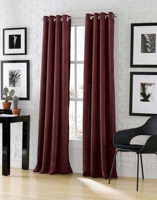 Astor Wide Width Chenille Corduroy Grommet Curtain Panel