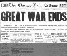 headline of november 11 1918 was the newspaper that came out ...