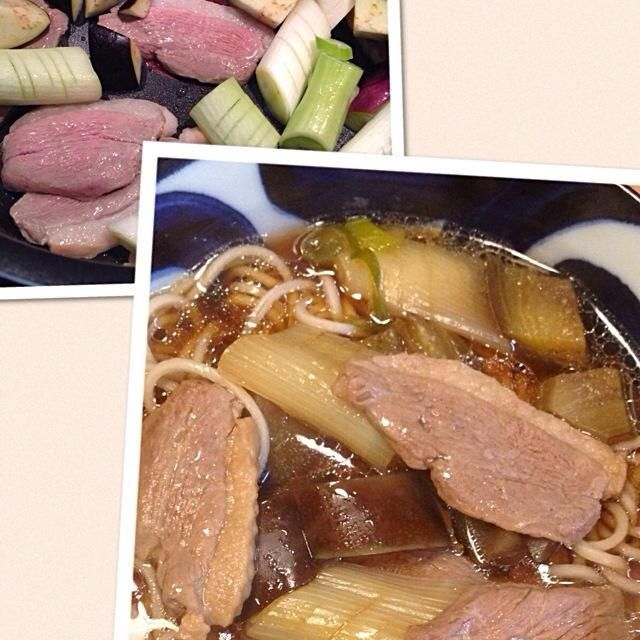 寒かったから鴨南そばを作ってみた。簡単で温まるわ〜。ネギとナスが脂を吸って甘くなってました。 - 34件のもぐもぐ - 簡単レシピの鴨南そば☆ by MORi