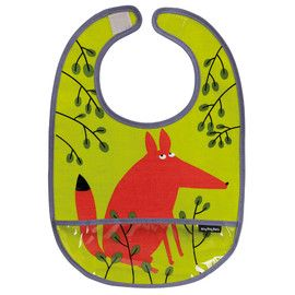 Petit Jour Forest PVC Coated Cotton Bib  Distributed by Kaleidoscope