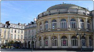 L'Opéra de Rennes, place de la mairie.
