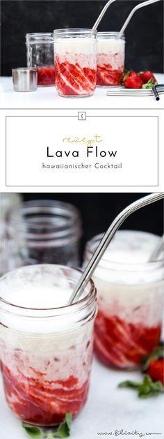 Ein einfaches Rezept zum Nachmixen: Der hawaiianische Cocktail Lava Flow ist der perfekte tropische Drink für Sommer-Partys und ein echter Hingucker!